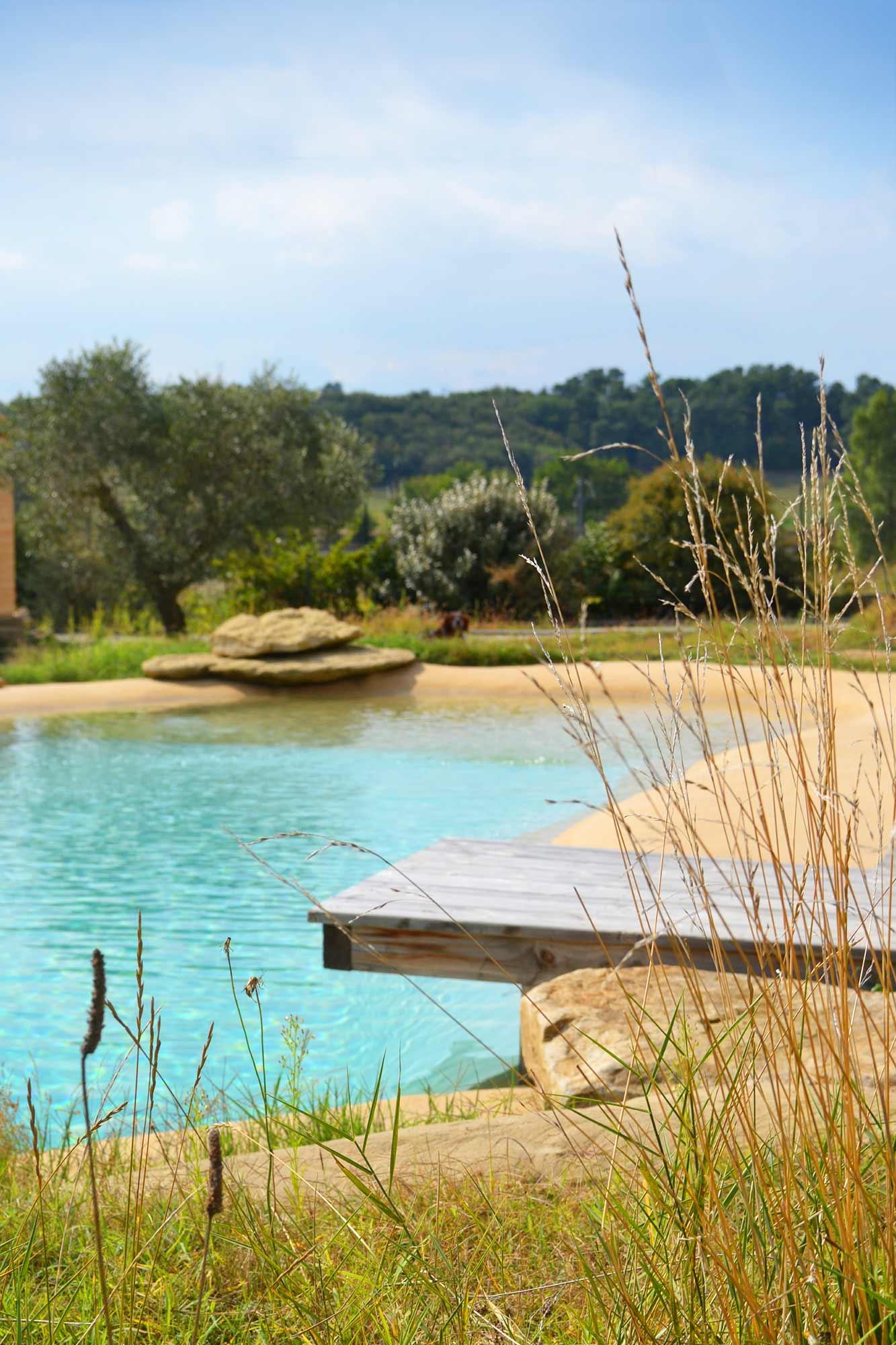 Bassin De Baignade Autoconstruction piscine naturelle avec plage. lagune.
