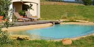 Piscine naturelle et cologique jardin aquatique tang - Camping a mimizan plage avec piscine ...