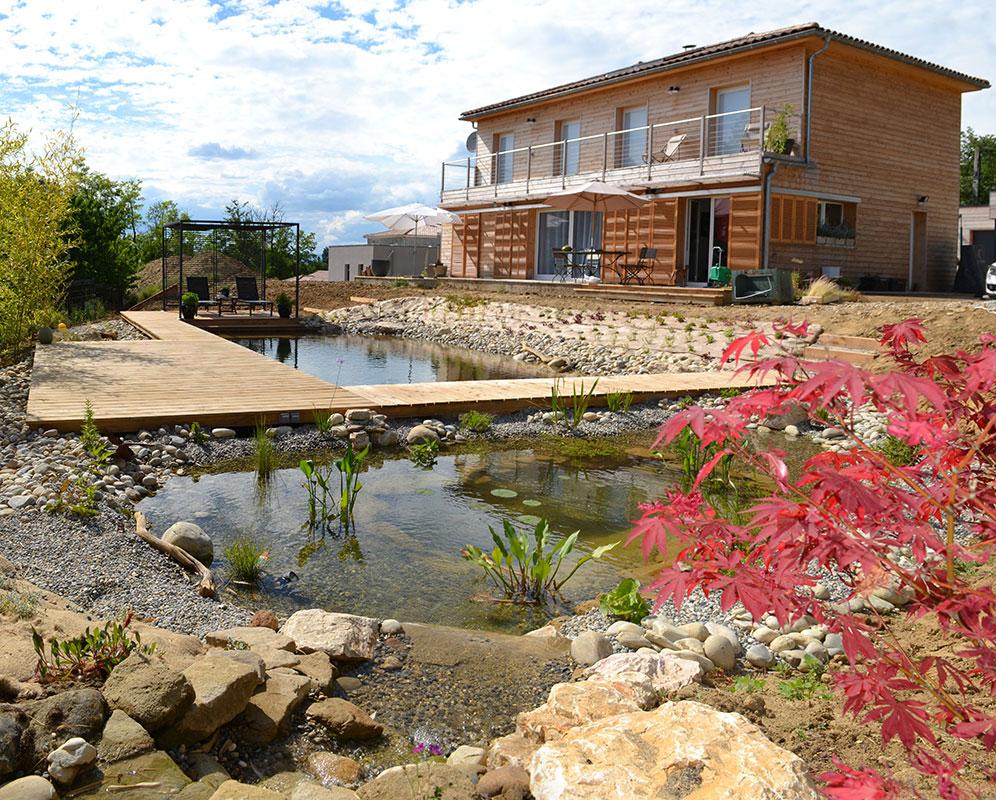 Piscine naturelle filtration au sel.jardin aquatique, étang de ... - Piscine Filtration Naturelle