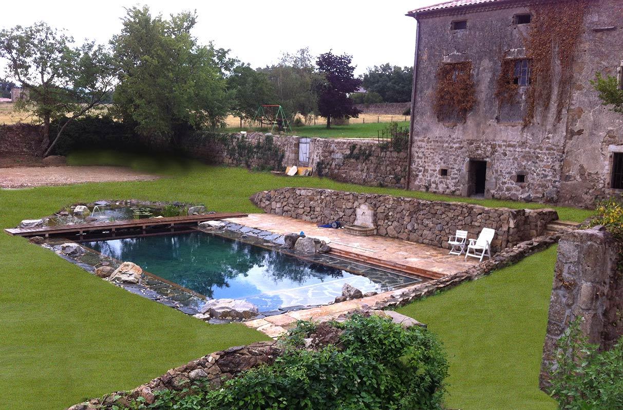 Transformer Son Bassin En Piscine piscine naturelle filtration au sel.jardin aquatique, étang